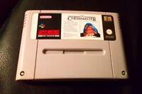 VINTAGE 1992 SNES GAME THE CHESSMASTER SUPER NINTENDO ENTERTAINMENT SYSTEM XMAS