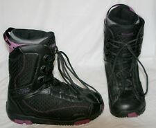 SIMS Omen Snowboard Boots Black / Purple Dual Lace Size 9 US Women - Used - VG