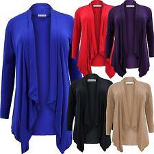 Women's Plus Size No Pattern Long Sleeve Jumpers & Cardigans