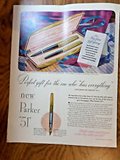 1949 Parker 51 Pens Set Ad Perfect Gift for the one Who Has Everything