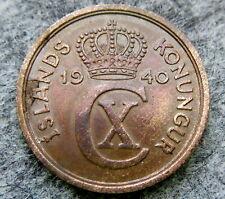 ICELAND CHRISTIAN X 1940 2 AURAR