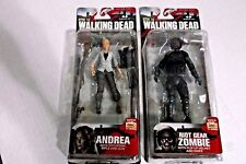 McFarlane Toys The Walking Dead TV Series 4 Andrea and Riot Gear Zombie Figures