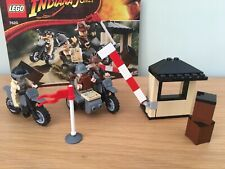 LEGO Indiana Jones Set Motorcycle Chase - 7620 COMPLETE With Instructions. Mint!