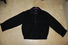 Dark Charcoal Black RECHERCHE Wool  Zip Front Lined Jacket US 38 EU 100 Med