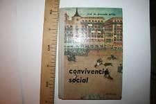 ANTIGUO LIBRO, CONVIVENCIA SOCIAL 1963, 2ª EDICIÓN (ÉPOCA DE FRANCO)