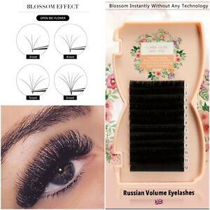 Russian Volume Lashes 3D EASY FANNING Silk Mink Individual eyelashes Extension
