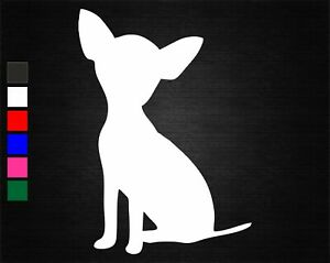 CHIHUAHUA DOG SILHOUETTE VINYL DECAL STICKER BEDROOM/CAR/WALL/DOOR/LAPTOP/TABLET