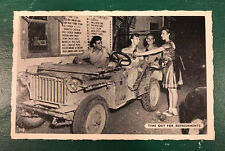 "Vintage WWII US Army Signal Corps ""Time Out For Refreshments"" Postcard"
