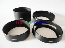 55mm standard telephoto wide angle vented curved metal lens hood kit set 4pcs