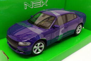 Welly 1/24-27 Scale 24079W - 2016 Dodge Charger R/T - Blue