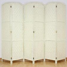 CREMA CHIARO 6 Pannello Solido INTRECCIO VIMINI Room Divider HAND MADE Privacy Schermo
