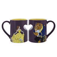 Disney Parks Beauty and The Beast Ceramic Coffee Mug Set New in Box Fast ship