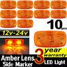 10x 12v 24v Amber 12 LED Side Marker Tail Light Lamp Clearance Trailer Truck