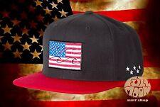 New Billabong Native USA American Flag Mens Snapback Cap Hat
