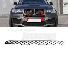 Front Bumper Central Top Black Grille For BMW X5 E70 X6 E71 E72 2007-2014