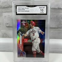 2020 Topps Chrome Prism Refractor Albert Pujols #127 Angels GMA Gem Mint 10