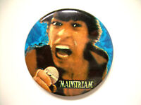 Rolling Stone Mick Jagger Mainstream Records Milwaukee Vintage Button Rare 80's
