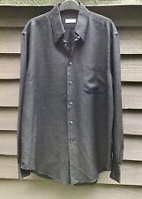 "Cerruti 1881 Paris Charcoal Grey Viscose/Mohair Shirt, 40/15 3/4"" Made in Italy"