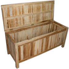 KMH® Teak Kissentruhe 120  Auflagenbox Kissenbox Auflagentruhe Gartenmöbel Holz