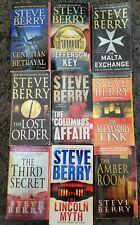 STEVE BERRY THRILLER ACTION ADVENTURE PAPERBACK 9 BOOK LOT NOVELS
