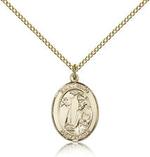 "Saint Elmo Medal For Women - Gold Filled Necklace On 18"" Chain - 30 Day Money..."