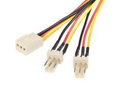 """StarTech TX3SPLIT12 12"""" TX3 Fan Power Splitter Cable 1FT 3PIN TX3 > Single Power"""