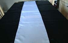 BLACK AND WHITE SATIN TABLE CLOTH