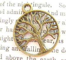 Brass TREE OF LIFE  Pendant GODDESS Wicca Pagan Supplies Jewelry Charm vintage s