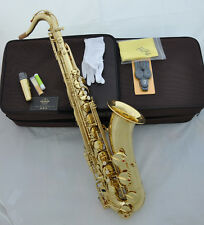 Professional TAISHAN Gold lacquer Tenor Saxophone Sax Bb High F# FREE mouthpiece