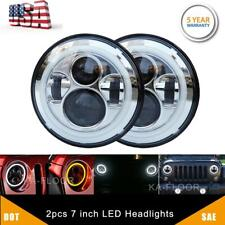 "7"" INCH CREE LED Headlight Hi/Lo Beam DRL For Jeep Wrangler CJ JK LJ Rubicon"