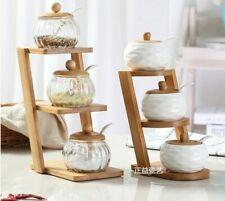 Seasoning Storage Salt Pepper Spice Household Kitchen Condiment Ceramic Jar Tool