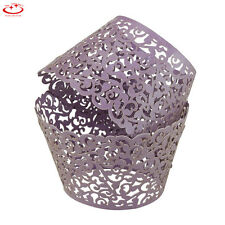1/50 Cupcake Wrapper Liner Vine Lace Muffin Cup Case Holder Wedding Party Decor