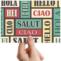 "Foreign Language Greeting - Small Photograph 6"" x 4"" Art Print Photo Gift #13050"