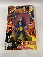 VINTAGE 1997 Marvel Universe Polaris 10 inch Action Figure Toybiz Damaged Box