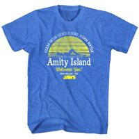 Jaws Amity Island Clear Skies Men's T Shirt Vintage Sunset Gentle Surf Top Water