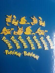 Enamel charms jewellery making Pokemon pikachu