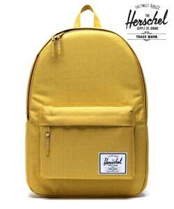 Herschel Supply Classic X-Large Arrowwood Crosshatch Yellow Backpack hiking camp