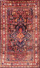 """Geometrische Marineblau 5x9 Nahavand soltaniyeh Persisch Orientalisch Gebiet Teppich 8' 11"""" x 5' 3"""
