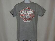 Men's Graphic Tee OCTANE Gray/Red World Superbike AMA T-Shirt