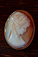 Rare Gold Cameo 9ct PP Ltd Hallmarked Good Size Lovely Order Pendant/Brooch