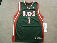 81fb078cc0a 7 Pride Replica Jersey 3 Authentic Adidas Brandon Jennings Jersey size 40 Milwaukee  Bucks NBA Rookie ...