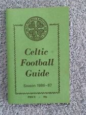 Celtic FC 'Wee Green Book' 1986-87 Football Guide