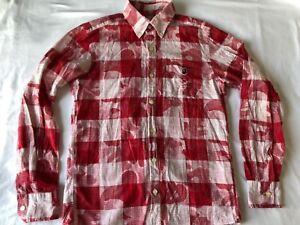 Bape A Bathing Ape x Red Camo Check Long sleeve shirt