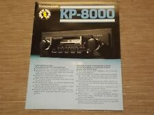 Pioneer KP-8000 Car Stereo Cassette tape with radio Original Catalogue