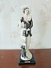 "G. Armani Figure Figurine Statue Sculpture ""The Walk"" Lady Dog Puddle, Italy"