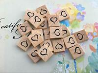 scrabble letter heart tiles open black x 10 pieces crafting embellishments