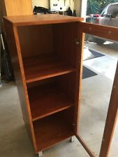 Side Unit, book case rosewood timber, glass doors