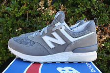 NEW BALANCE 574 SPORT SZ 9.5 GREY WHITE OFF WHITE SUEDE FRESH FOAM MS574BG