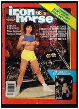 IRON HORSE SEPTEMBER 1987 CUSTOM BIG BIKE STREET CHOPPERS OUTLAW BIKER LIFESTYLE