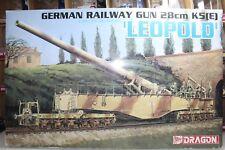 Dragon Models 1:35 Scale GERMAN RAILWAY GUN 28cm K5(E) LEOPOLD Kit No.6200-03